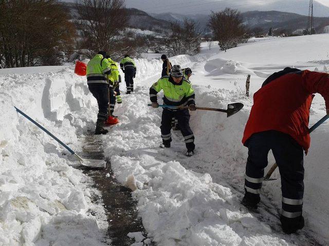 Emergenza neve, Prociv di Allumiere in prima linea