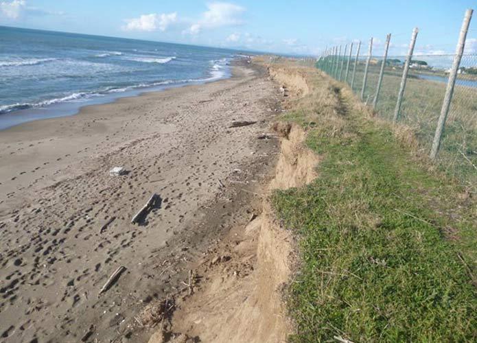 Saline, è ancora sos erosione