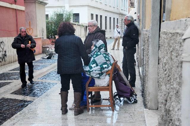 Evacuazione palazzina via Regina Elena