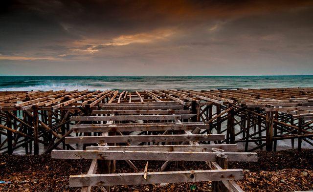 Palafitte a Santa Marinella (foto Alessio Lucaroni)