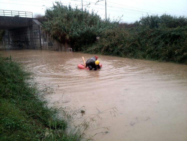 Bomba d'acqua a Santa Marinella