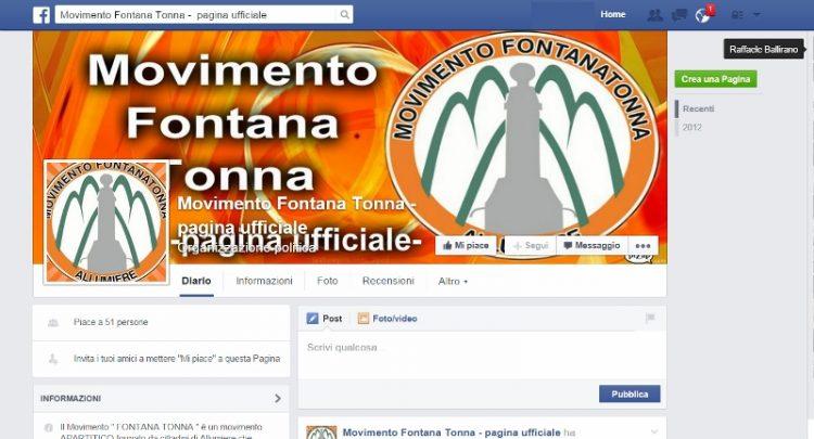 Oscurata ancora la pagina facebook di Fontana Tonna