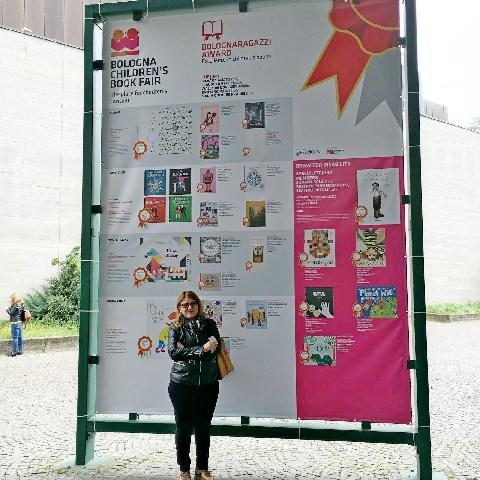 Michela Bentivoglio e la scuola  di Tolfa al ''Children's Book Fair''