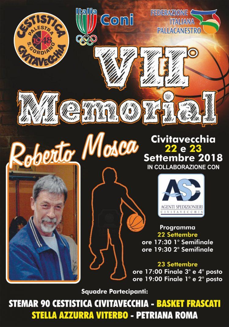 Memorial Roberto Mosca: al via la 4^ edizione
