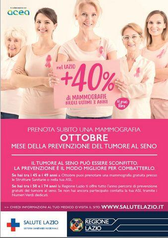 La Asl Roma 4 rilancia la campagna ''Ottobre Rosa''