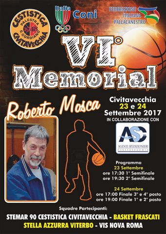 In scena il 6° ''Memorial Roberto Mosca''
