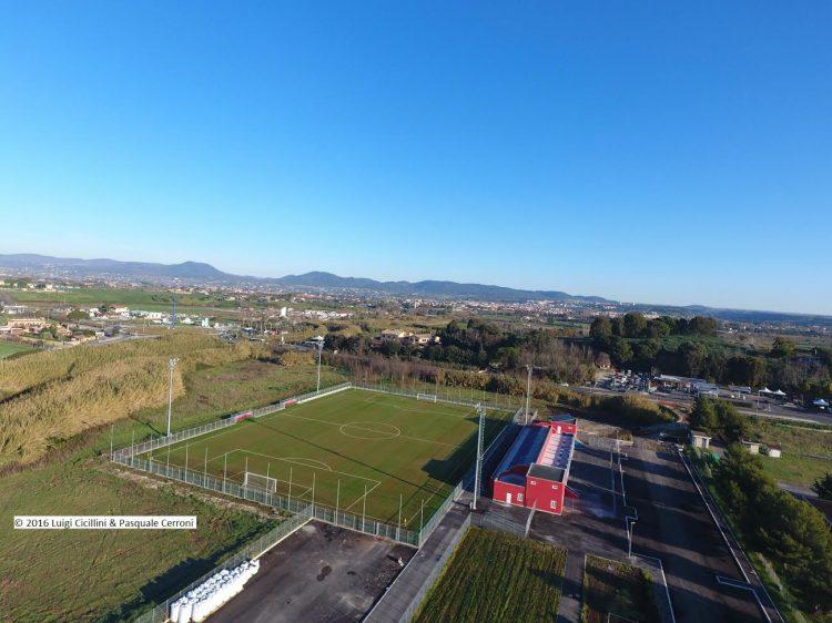 Ladispoli, riflettori sullo stadio: pronti i lavori per le tribune