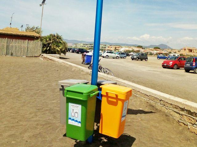 Con le mini-isole sulle spiagge di Campo di Mare differenziati correttamente il 57 per cento dei rifiuti