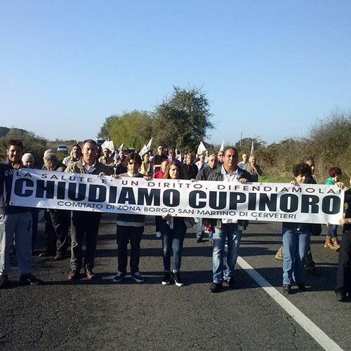 ''Fermiamo Cupinoro'': oggi manifestazione di comitati, cittadini e politici