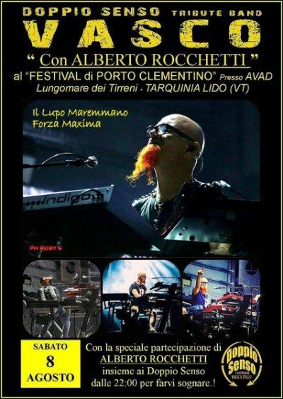 Porto Clementino festival: stasera Alberto Rocchetti e la band dei Doppio Senso