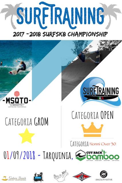 Tarquinia è pronta per la terza edizione del Surfskate Contest Smoothstar Classic