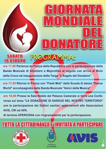 Domani ad Allumiere la ''Giornata del donatore''