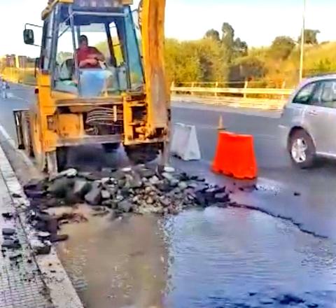 Improvvisa perdita idrica: chiusa l'erogazione di via Montanucci