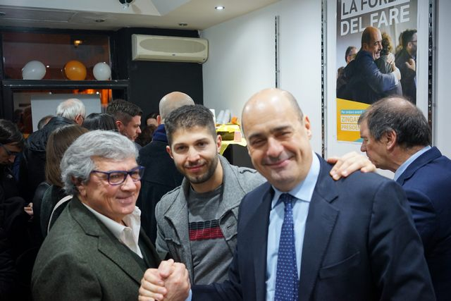 Giannini soddisfatto dell'inaugurazione del comitato Zingaretti