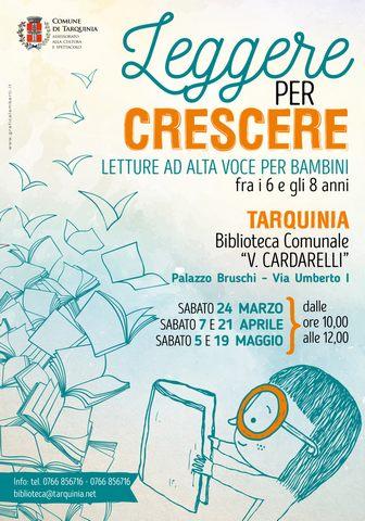 ''Leggere per crescere'': alla biblioteca di Tarquinia letture ad alta voce per bambini