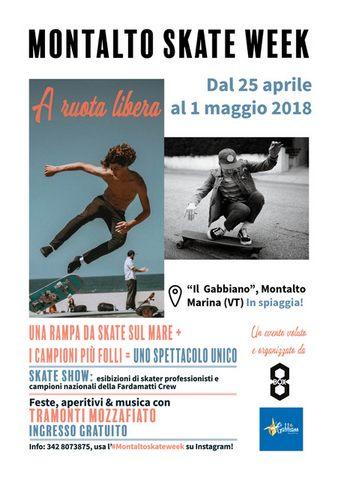 Dal 25 aprile al 1 maggio la Montalto Skate Week