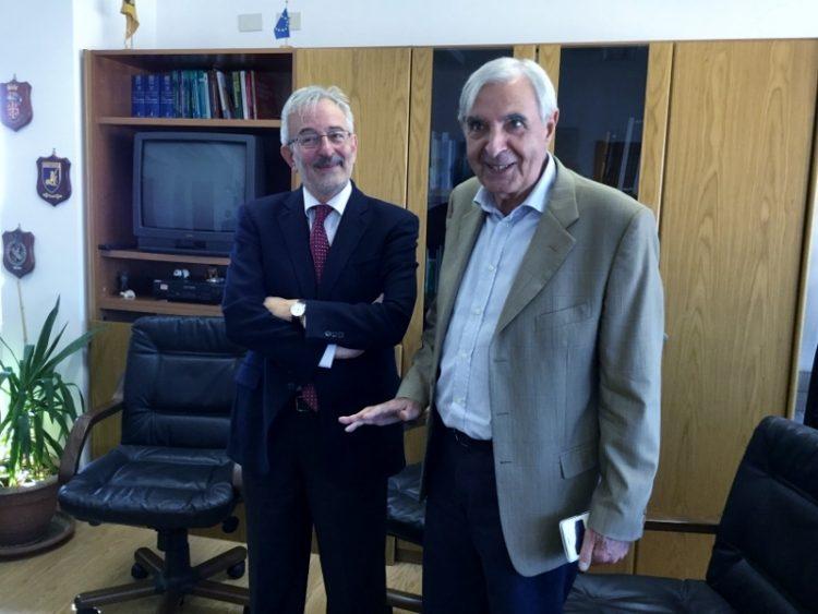 Il Procuratore Generale Salvi in visita al Palazzo di Giustizia