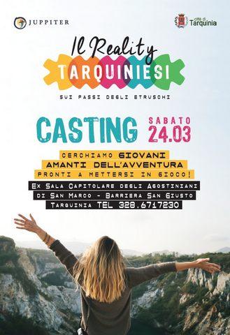 ''Tarquiniesi '': a Tarquinia i casting per il primo reality girato interamente nella Tuscia