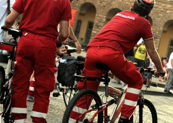 Croce rossa in bicicletta a Tarquinia: bilancio più che positivo