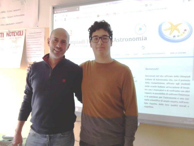 Tarquinia, Lorenzo Bianco alle finali interregionali delle Olimpiadi di Astronomia