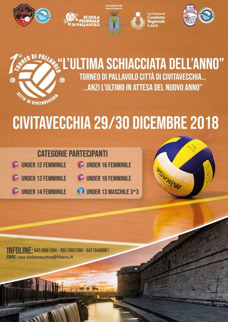 Cv Volley e Asp ''Città di Civitavecchia L'ultima schiacciata dell'anno''