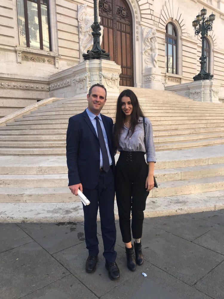Battilocchio incontra alla Camera miss Etruria Chiara Bordi