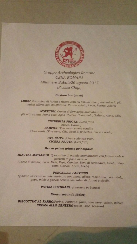 Sold out per l'iniziativa: ''A Tavola coi Romani'' proposta dal Gar