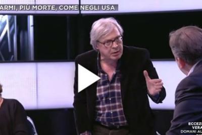 Sgarbi show su La7: 'vaffa' a Luisella Costamagna e minacce a Telese