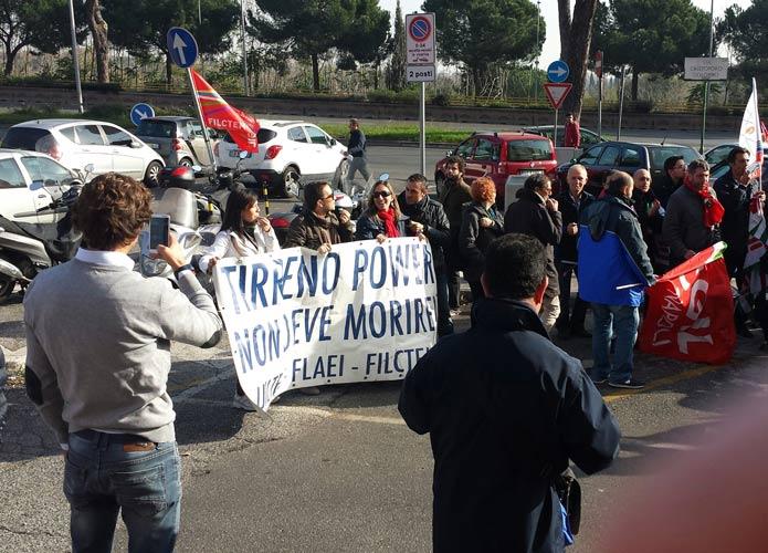 Tvs, lavoratori in presidio a Roma