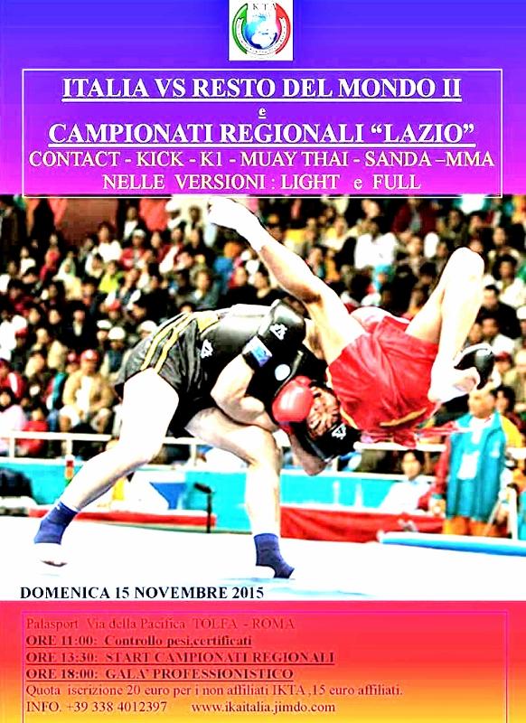 Italia vs Resto del Mondo e i campionati regionali IKTA