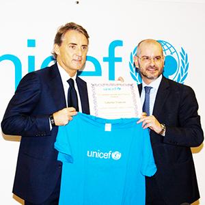 Mancini Ct della nazionale, i complimenti dell'Unicef