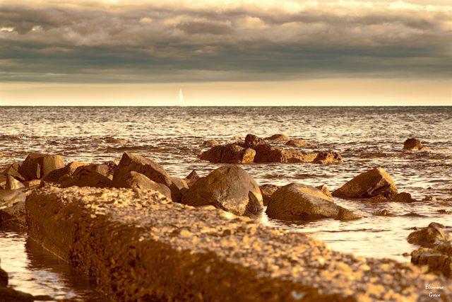 Nuvole e mare (foto Eleonora Greco)