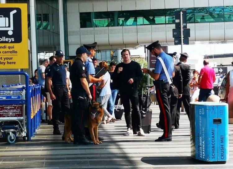 Aeroporto di Fiumicino: maxi controlli dei carabinieri