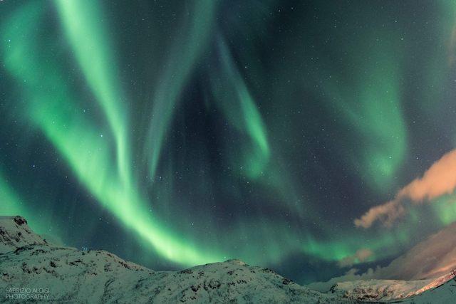 Aurora boreale in Lapponia (foto Fabrizio Aloisi)