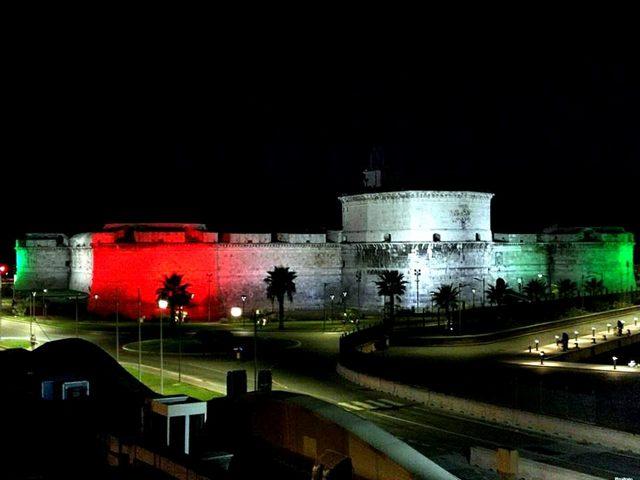 Tricolore sul forte (foto Pina Irato)