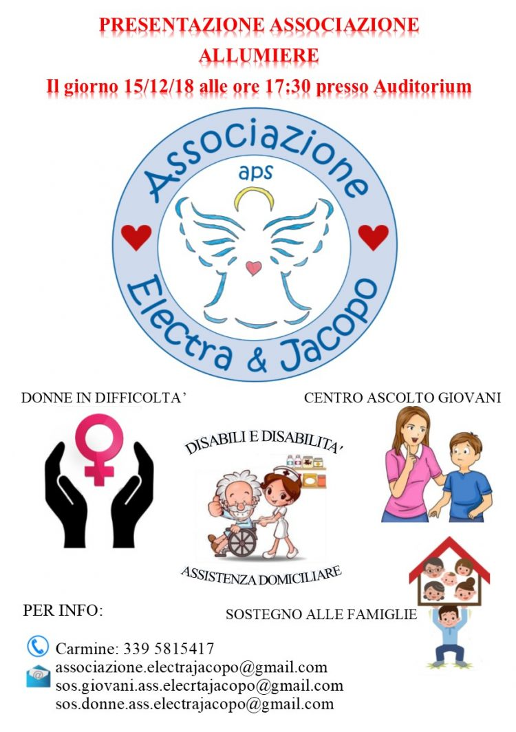 """''Electra & Jacopo APS"""", ad Allumiere un'associazione per migliorare la qualità della vita"""