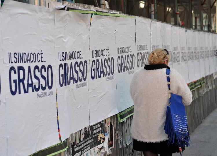 Spuntano manifesti a sostegno di Grasso