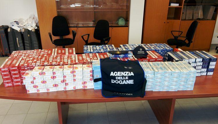 Dogane e Gdf: sequestrati 70 kg di sigarette in porto
