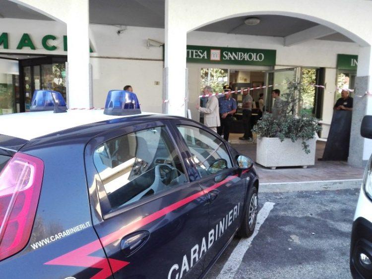 Assalto al bancomat di Intesa San Paolo a Santa Severa