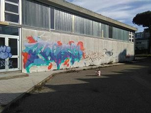 Imbrattano i muri della scuola con vernice spray: sorpresi e denunciati dalla Digos