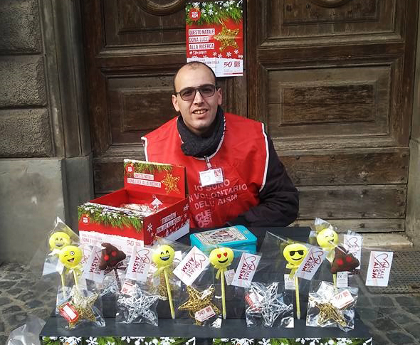 Natale AISM: raccolti 580 euro