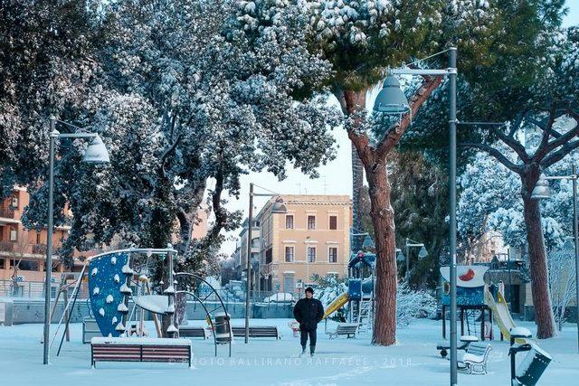 Nevicata al pincio (foto Raffaele Ballirano)