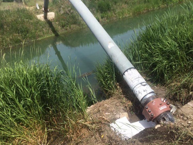 Sversamento kerosene: chiusa acqua per l'irrigazione