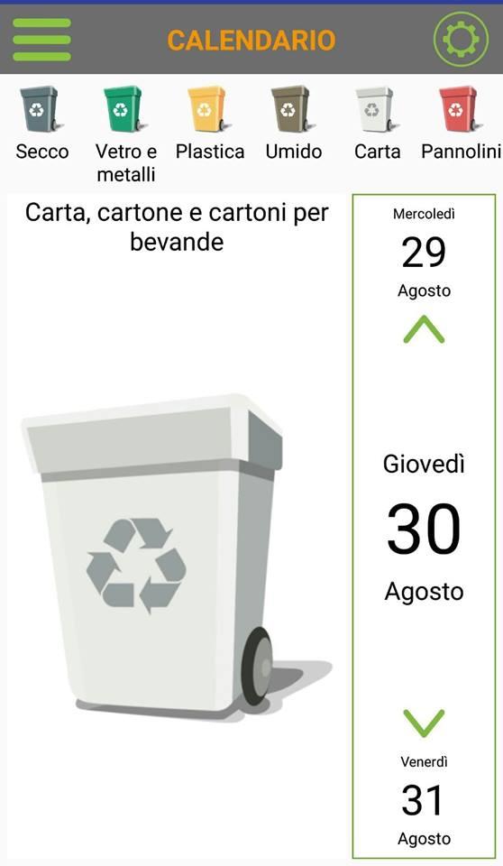 Il calendario della differenziata su EcoPoint