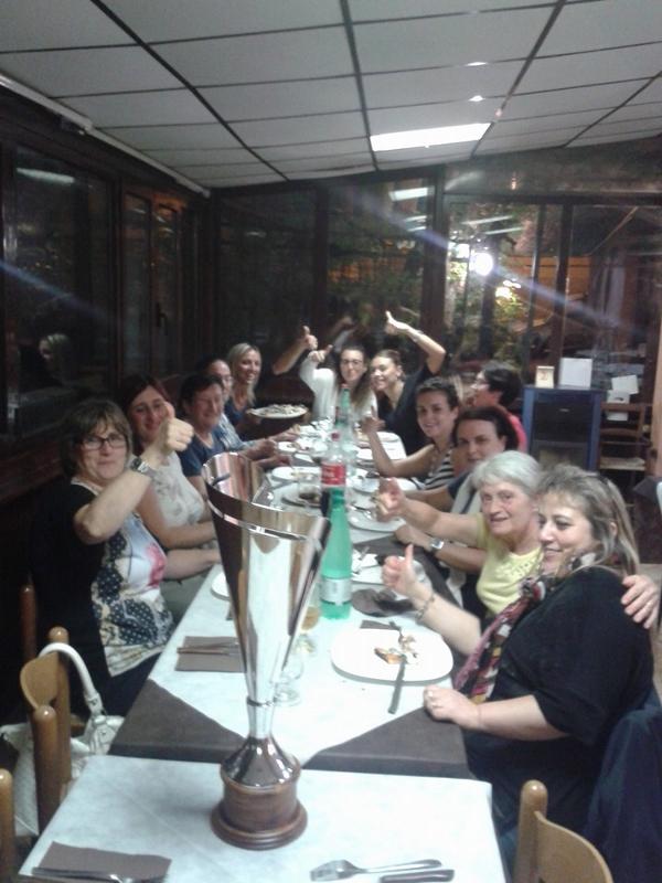 Cena della vittoria  per le donne  della Polveriera