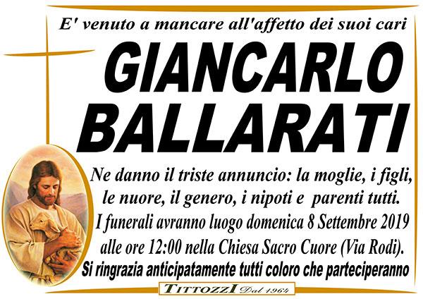 GIANCARLO BALLARATI