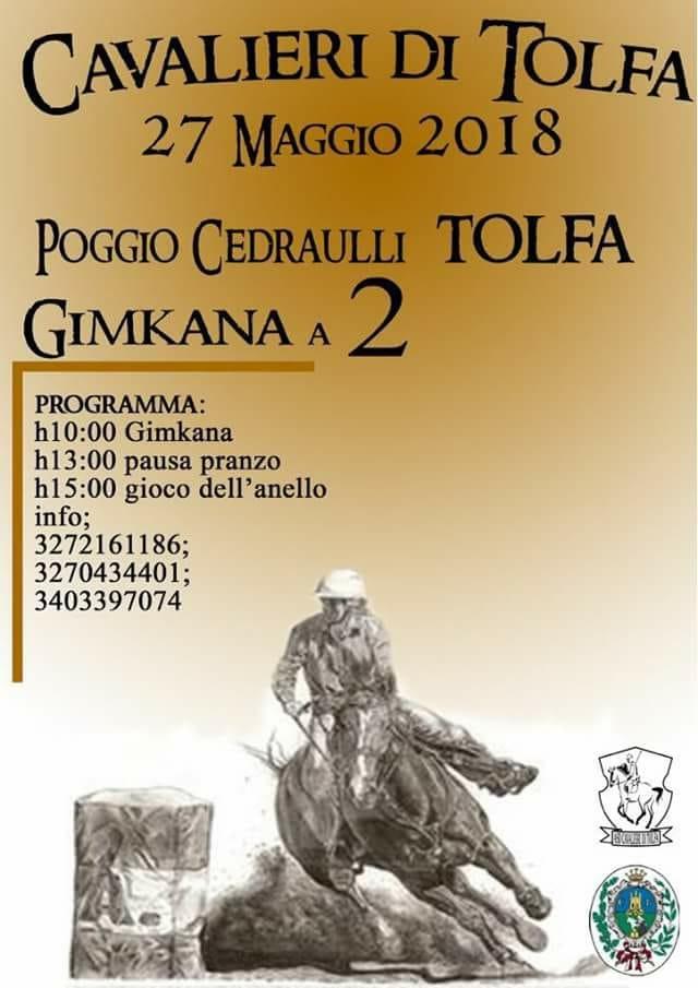 Tutto pronto per la gimkana equestre organizzata dall'Asd Cavalieri di Tolfa
