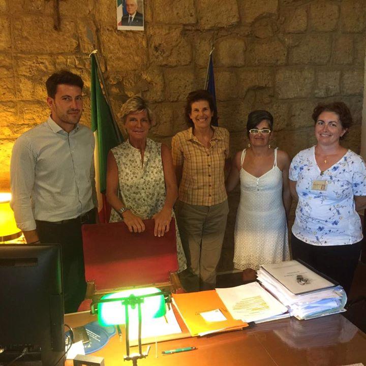 presidente di Enit Evelina Christillin in visita a Bagnoregio