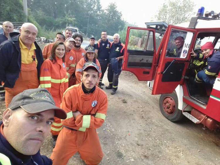 Pasquini: «Grazie alla Prociv e a chi ha aiutato a spegnere il fuoco»
