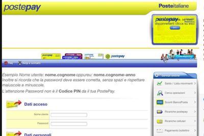 PostePay, occhio al sito clone